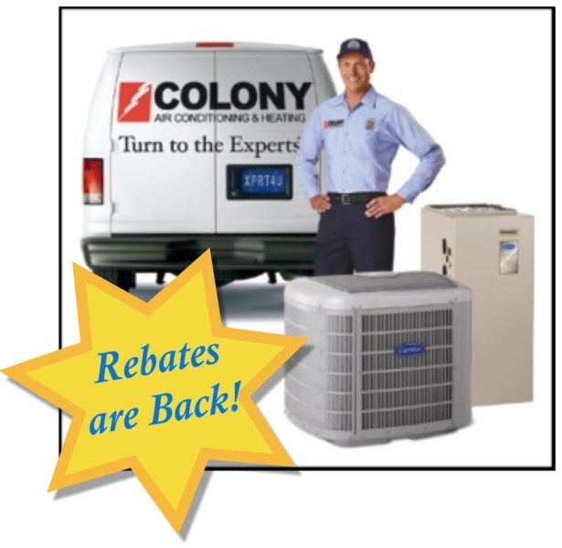 Air Conditioning and Heating Rebates for Carrier in The Colony, TX