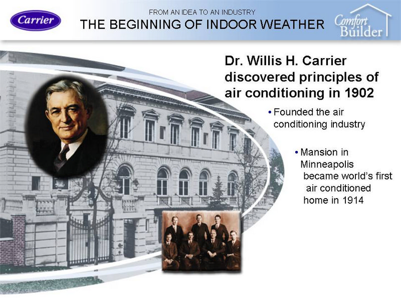 Carrier--The Beginning of Air Conditioning