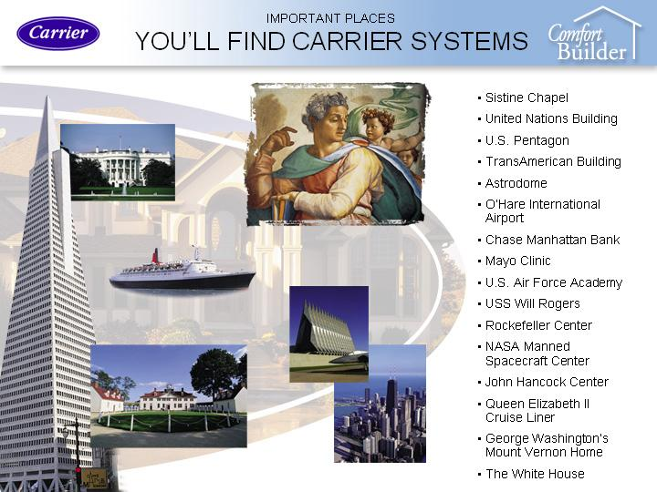 Places Where You'll Find Carrier Systems