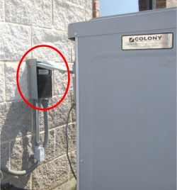outdoor disconnect or breaker
